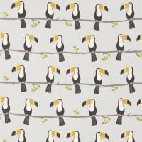 Terry Toucan Fabric - Charcoal/Putty