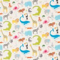 Animal Magic Fabric - Tutti Frutti/Chalk