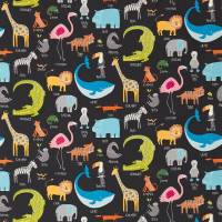 Animal Magic Fabric - Tutti Frutti/Blackboard