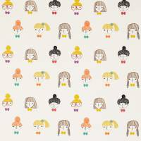Hello Dolly Fabric - Sunshine/Tangerine/Violet