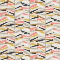 Tetra Fabric - Flamingo/Cinnamon/Pebble