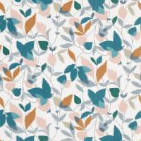 Akira Fabric - Ginger/Teal/Olive