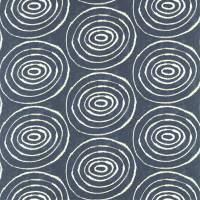 Sohni Fabric - Indigo/Clay