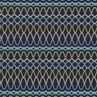 Ada Fabric - Midnight/Lime/Turquoise