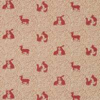 Woodland Animal Fabric - Russet