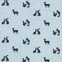 Woodland Animal Fabric - Indigo