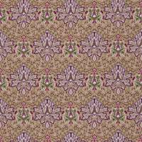 Artichoke Embroidery Fabric - Aubergine/Gold