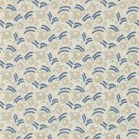 Wightwick Embroidery Fabric - Ecru/Mineral Blue