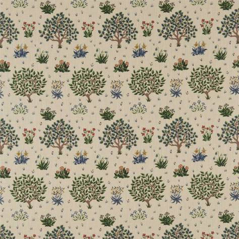 William Morris & Co Archive Prints Fabrics Orchard Fabric - Forest/Indigo - 220306 - Image 1