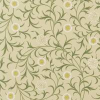 Scroll Fabric - Loden/Thyme