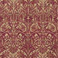 Bluebell Fabric - Claret/Gold