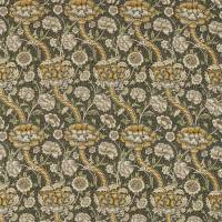 Wandle Fabric - Charcoal/Mustard