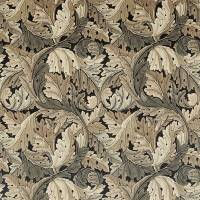 Acanthus Fabric - Charcoal/Grey