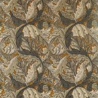 Acanthus Fabric - Mustard/Grey