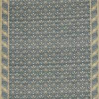 Morris Bellflowers Fabric - Indigo/Sage