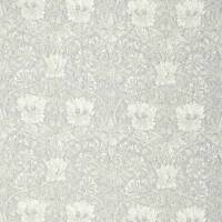 Pure Honeysuckle and Tulip Print Fabric - Light Grey Blue