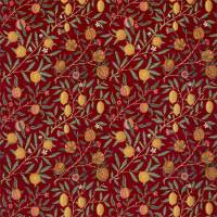 Fruit Velvet Fabric - Madder / Bayleaf