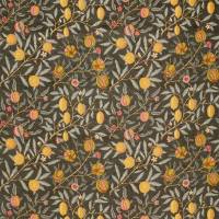 Fruit Velvet Fabric - Walnut / Bullrush