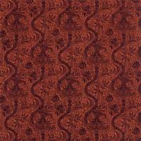 Indian Flock Velvet Fabric - Russet / Mulberry