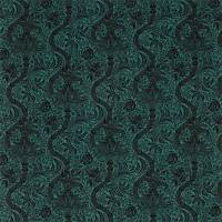 Indian Flock Velvet Fabric - Cerulean / Walnut