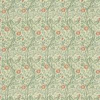Sweet Briar Fabric - Green/Coral