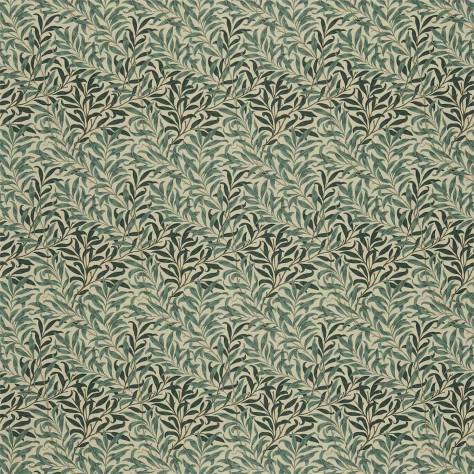 William Morris & Co Compendium III Fabrics Willow Boughs Fabric - Taupe/Green - DMFPWB202