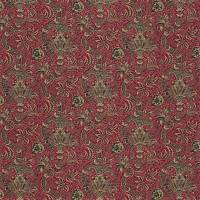 Indian Fabric - Red/Black