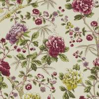 Tangley Fabric - Wine/Antique Yellow