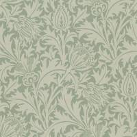 Thistle Fabric - Slate/Gold