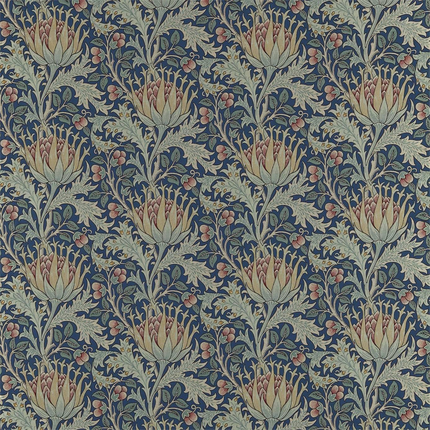 artichoke fabric   indigo rose dkelar302   william