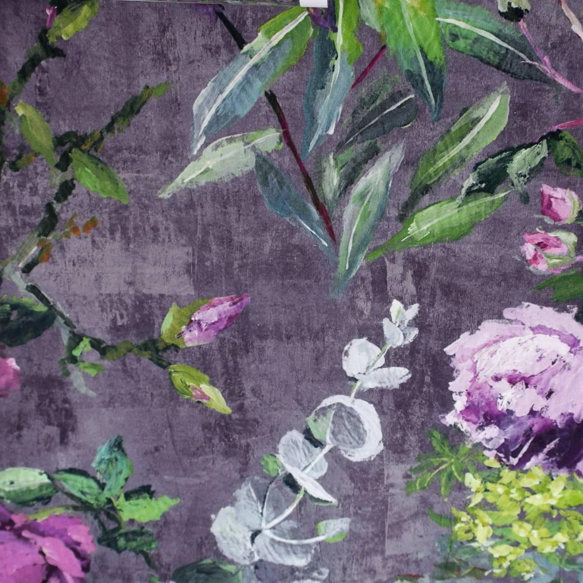 Curtains In Tulipani Fabric Amethyst Fdg2356 02