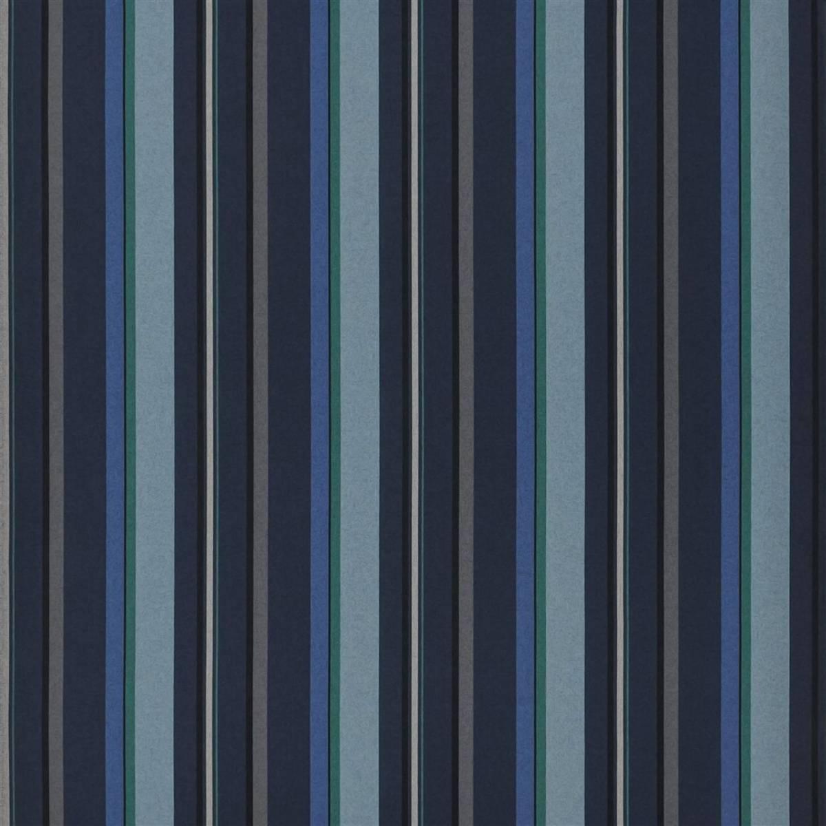 Webbing Stripe Fabric Indigo Fdg2311 01 Designers