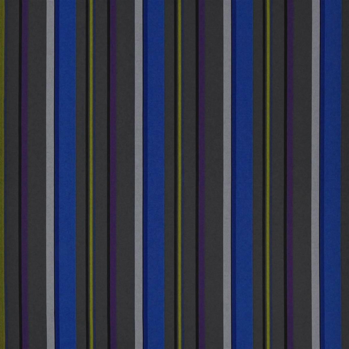 Webbing Stripe Fabric Cobalt Fdg2311 02 Designers