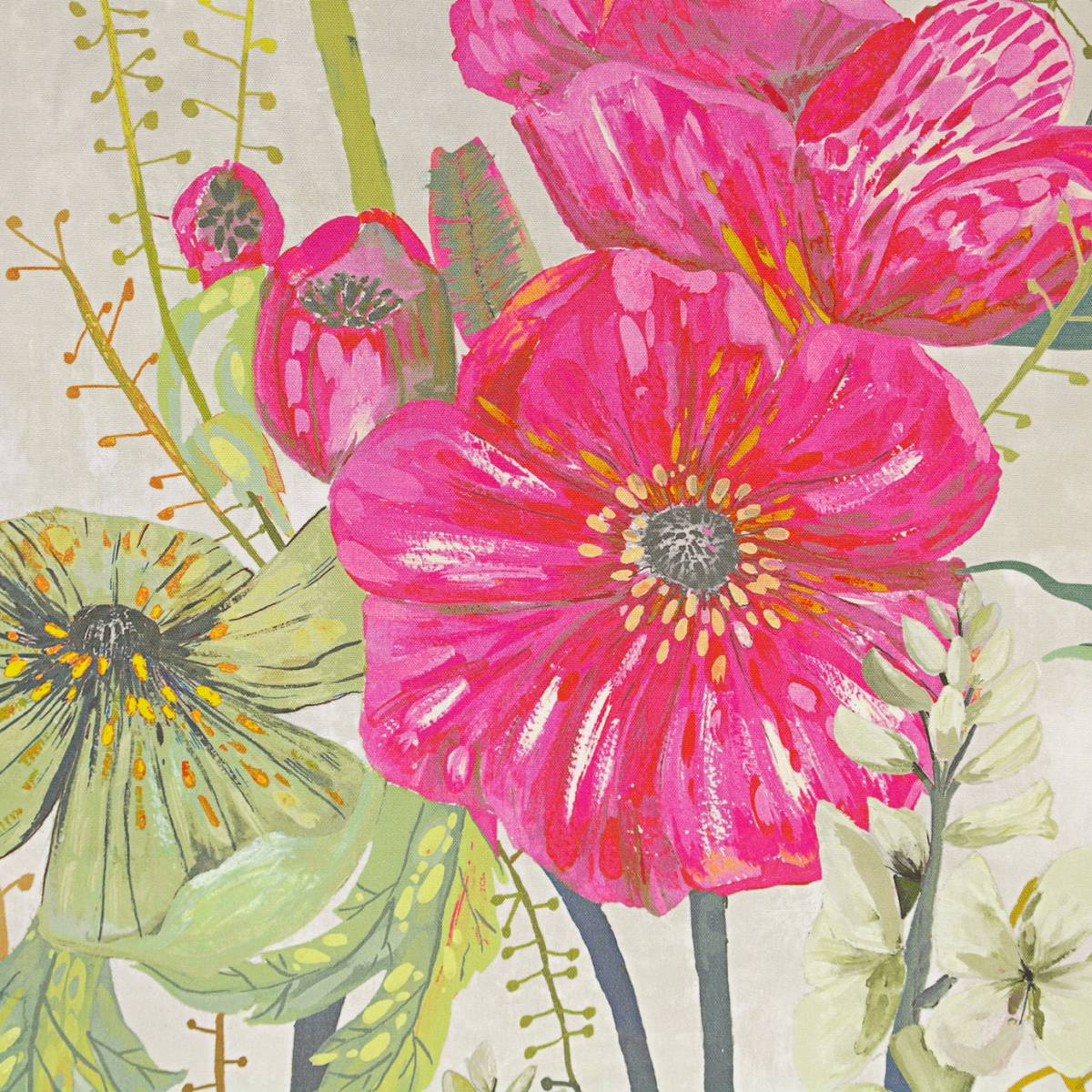 Masson fabric fuchsia fdg2564 02 designers guild for Jardin 02