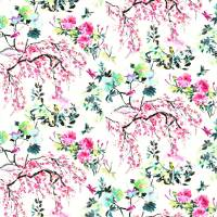 Chinoiserie Flower Outdoor Fabric - Peony
