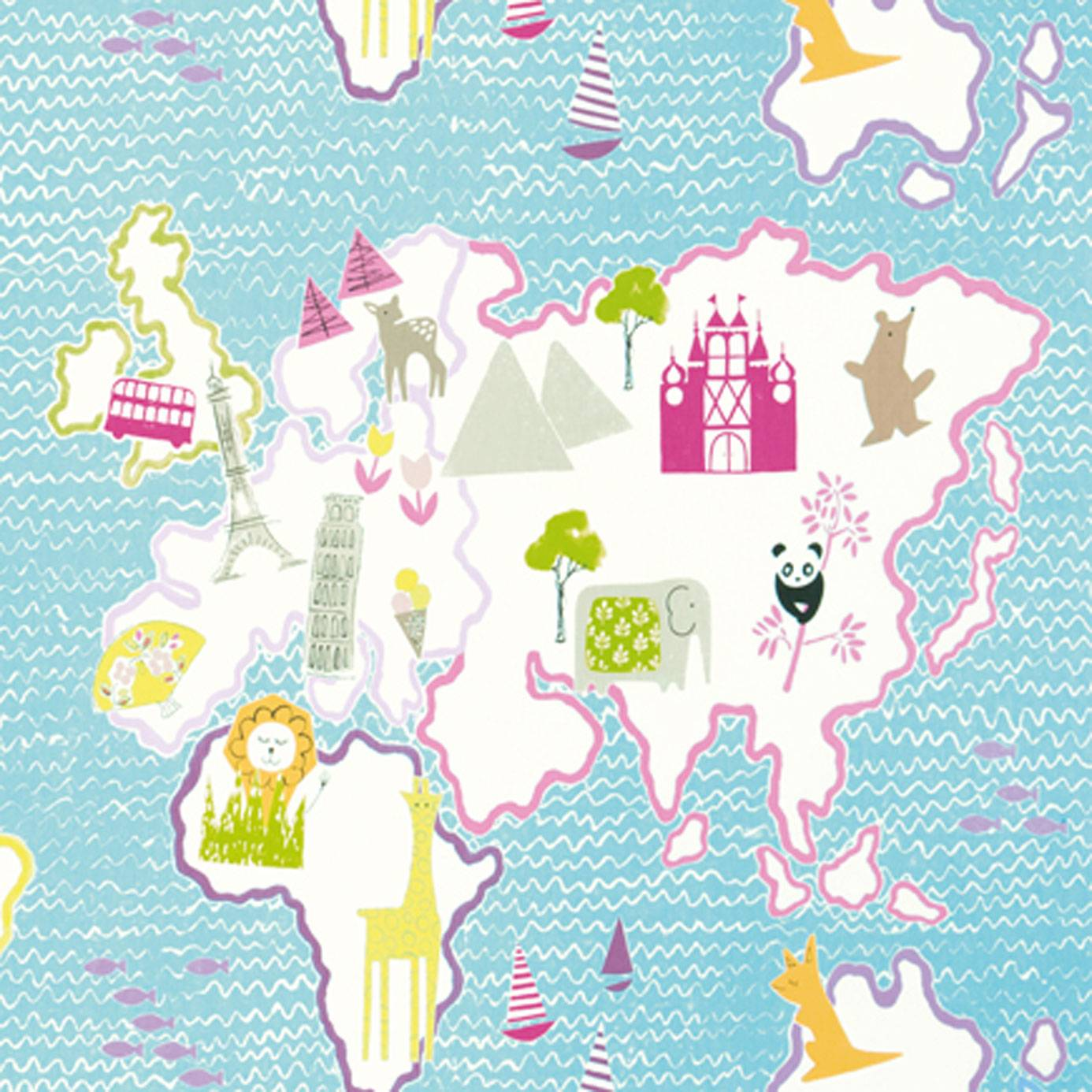 Around the world fabric rose f1825 02 designers for Fabric world