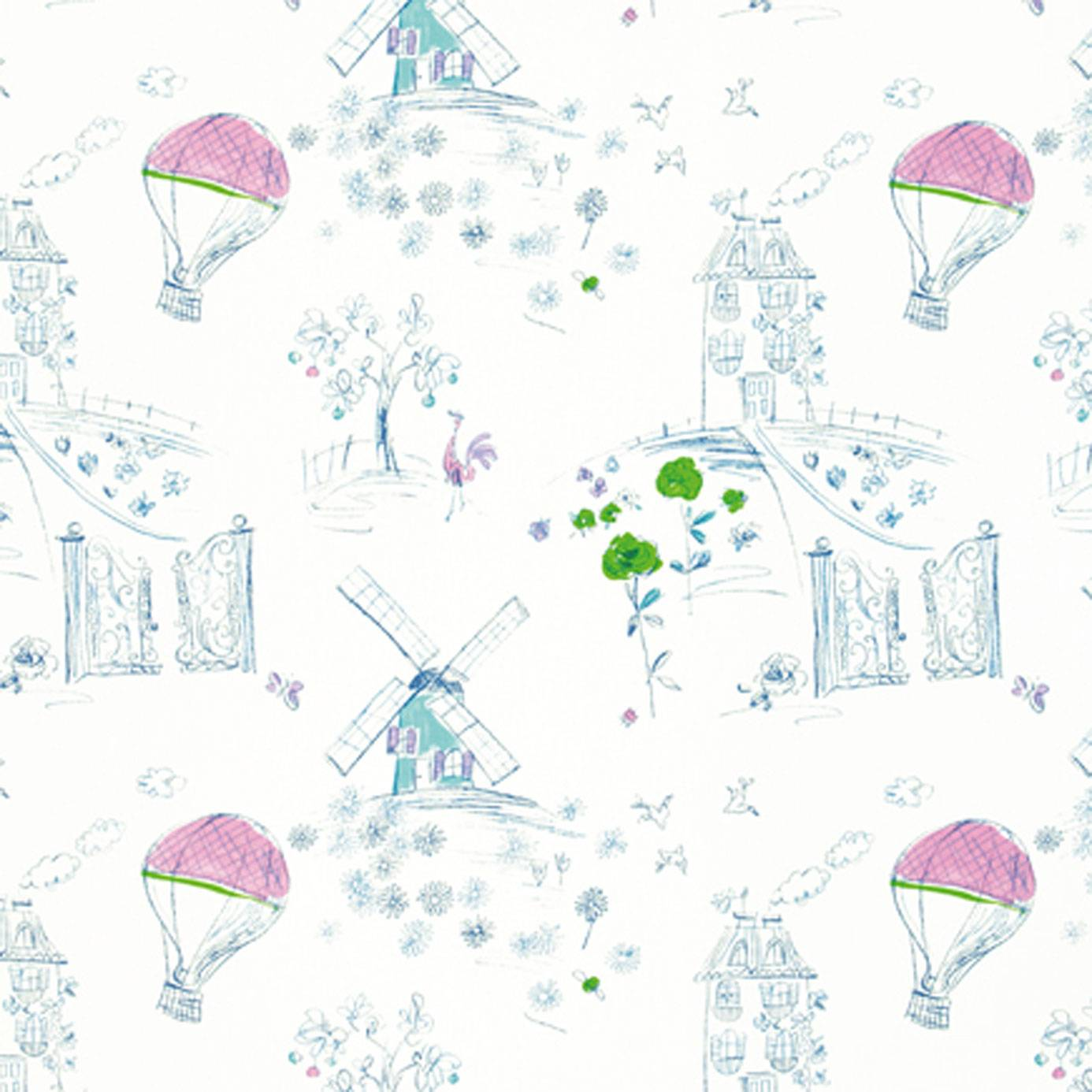 Meadowsweet fabric cobalt f1828 03 designers guild for Children of the world fabric