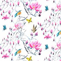 Madame Butterfly Fabric - Peony