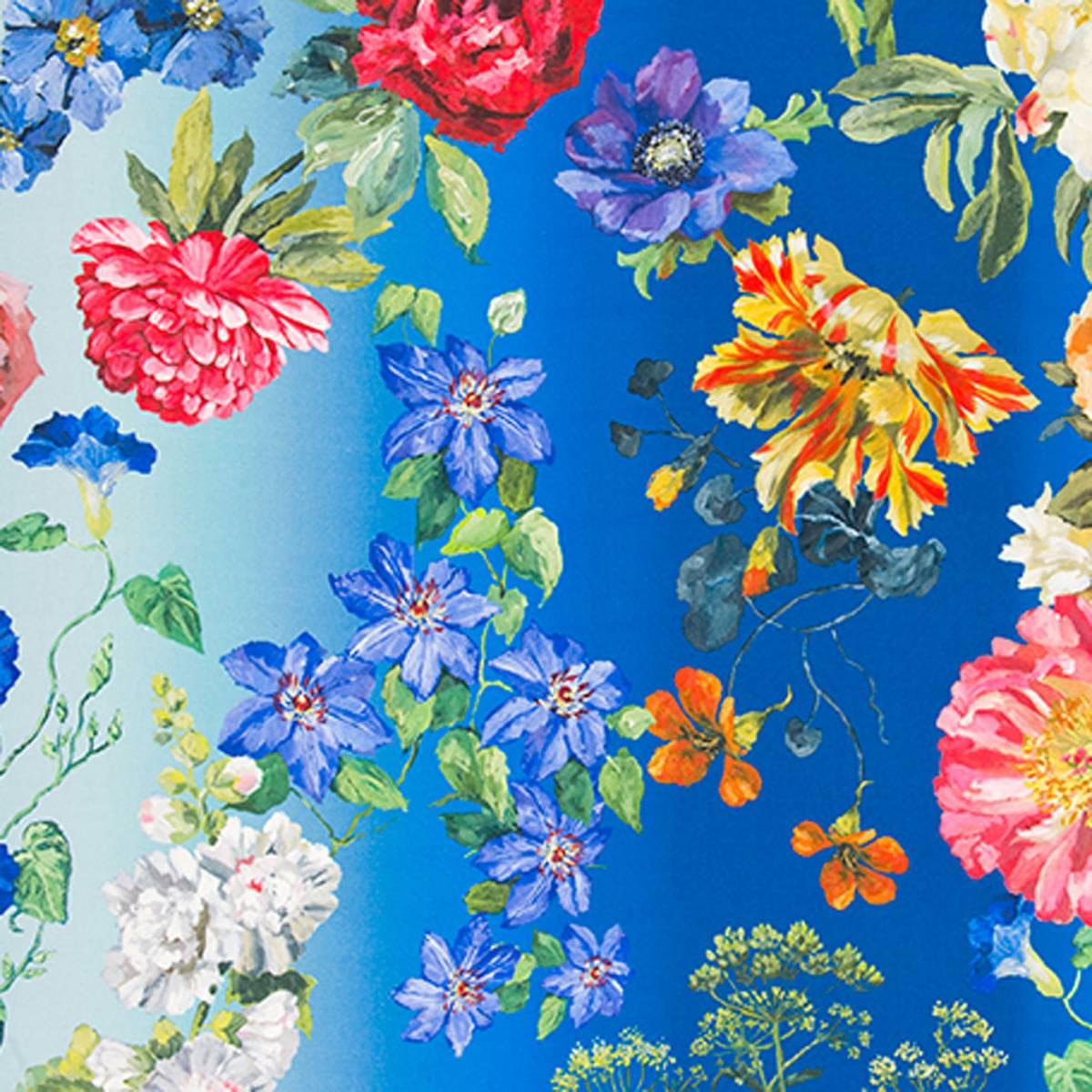 Curtains In Alexandria Fabric Lapis F2042 02