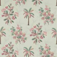 Palme Fabric - Teal/Pink