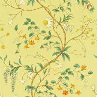 Chambalon Fabric - Old Gold/Jade