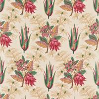 Desert Flower Fabric - Rose/Aqua