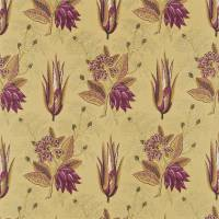 Desert Flower Fabric - Chocolate/Aubergine