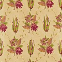 Desert Flower Fabric - Russet/Green
