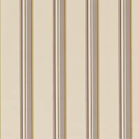 Agate Stripe Fabric - Ivory/Fig