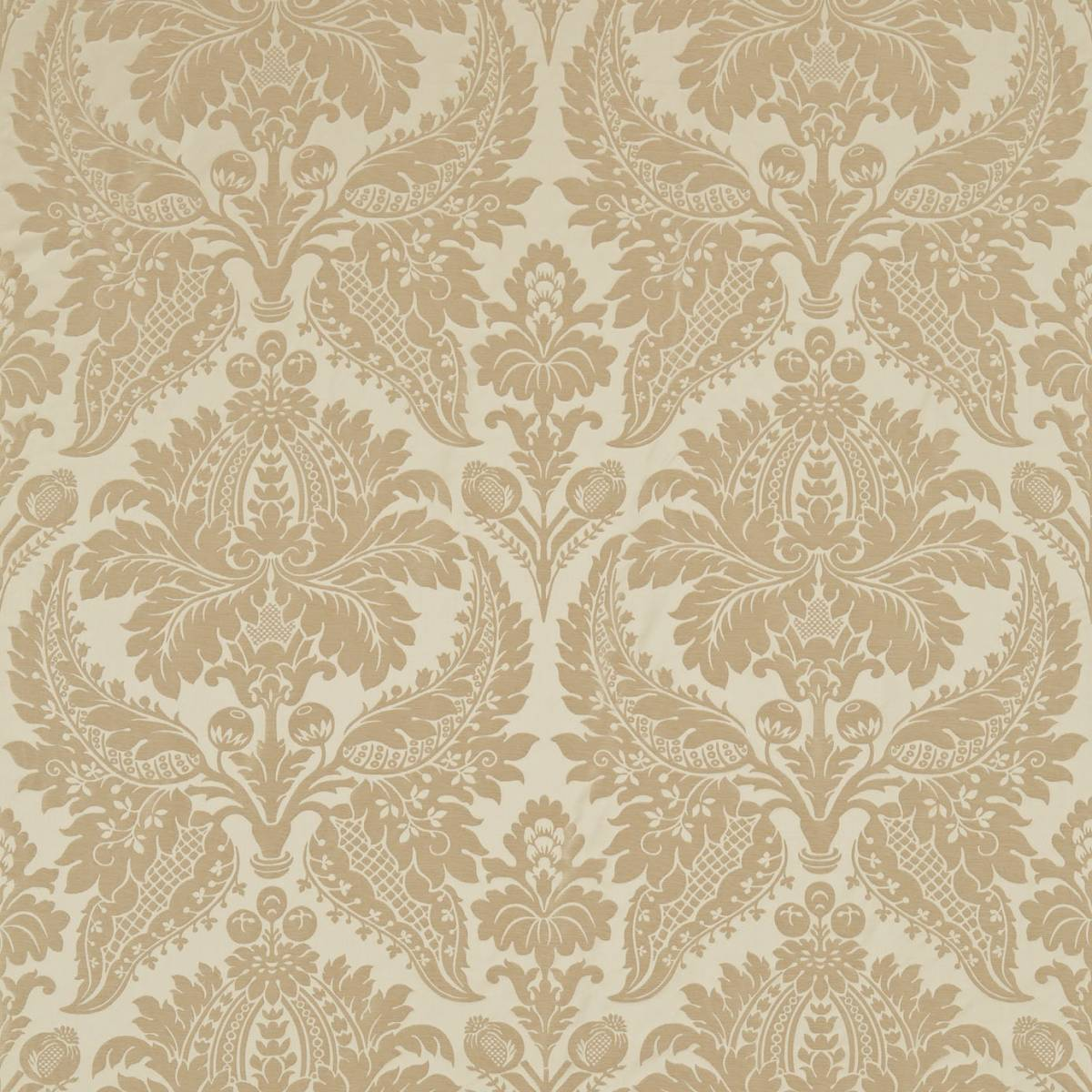 Curtains in Malmaison Damask Fabric - Pale Gold (331932 ...