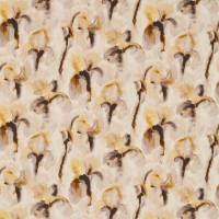 Water Iris Fabric - Gold/Charcoal
