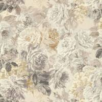 Rose Absolute Fabric - Pearl/Grey