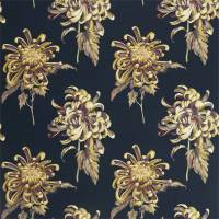 Evelyn Fabric - Tigers Eye/Ink