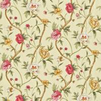 Flowering Tree Fabric - Pink/Green